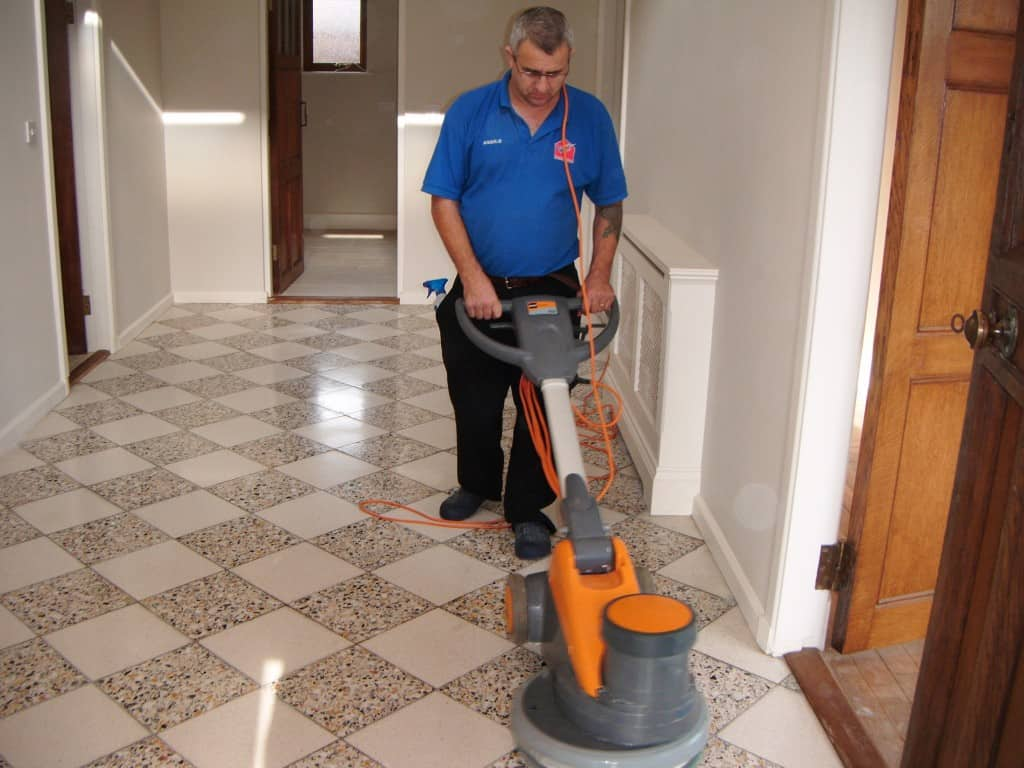 Cleaners for tile floors