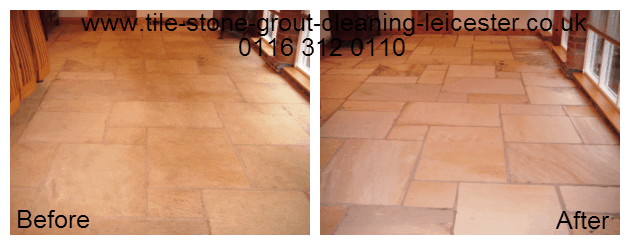 Flagstone tiled floor cleaning shepshed Licestershie