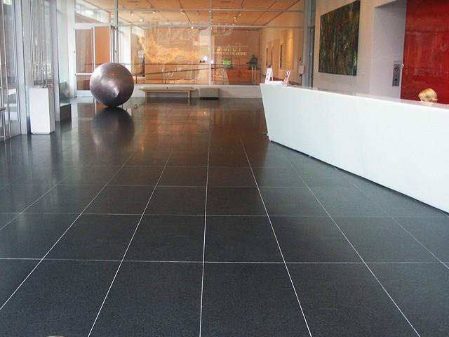 Leicester Granite Stone Floor Restoration.