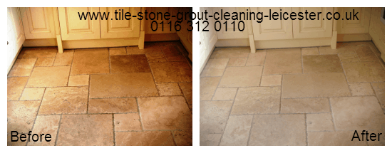 Limestone tiled floor polish Stanford Leicestershire