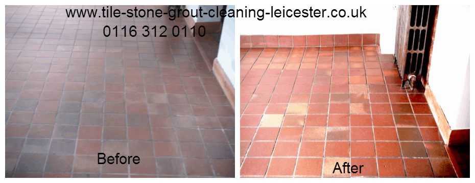 Quarry Tiled Floor Cleaning and Sealing Wigston Leicester