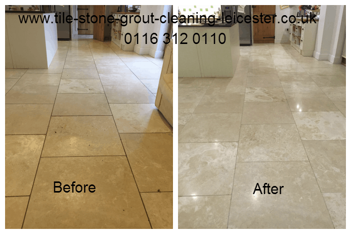 Travertine Stone Tile Floor Cleaning Leicester