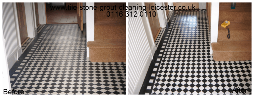 Victorian Edwardian stone floor in Kibworth Leicestershire