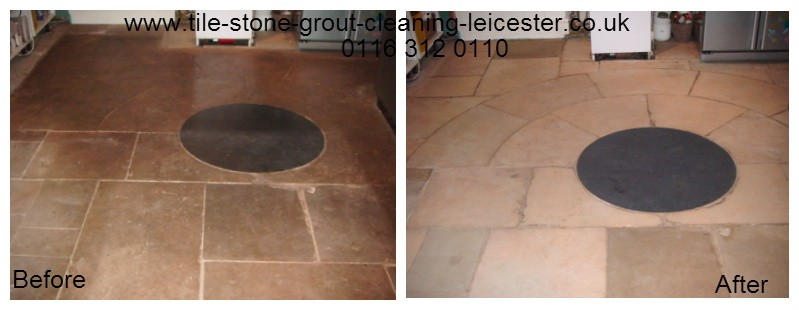 sandstone tiled floor cleaning in uppingham Rutland
