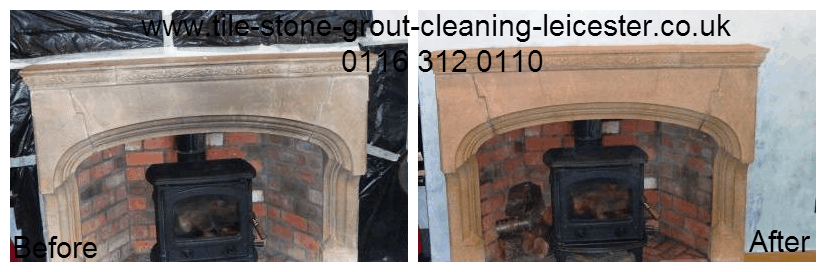 Stone Fireplace Cleaning in Loughborough Leicestershire