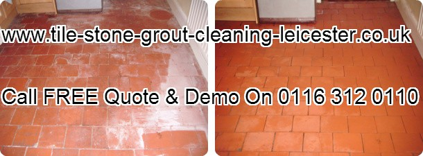 Leicester stone tile efflorescence removal cleaning