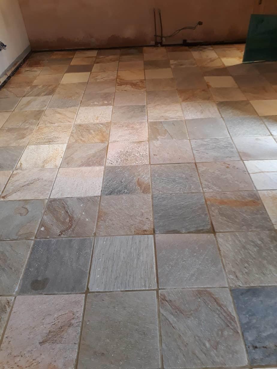 Slate Hard Floor Sealing In Thurmaston Leicestershire Tilestone
