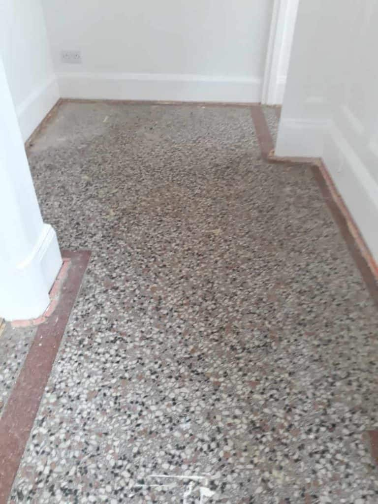 Terrazzo tile cleaning leicester marble cleaners 01163120110 is your terrazzo tile floor looking dull and tired like this one below call our professional stone polishing services in leicester dailygadgetfo Images